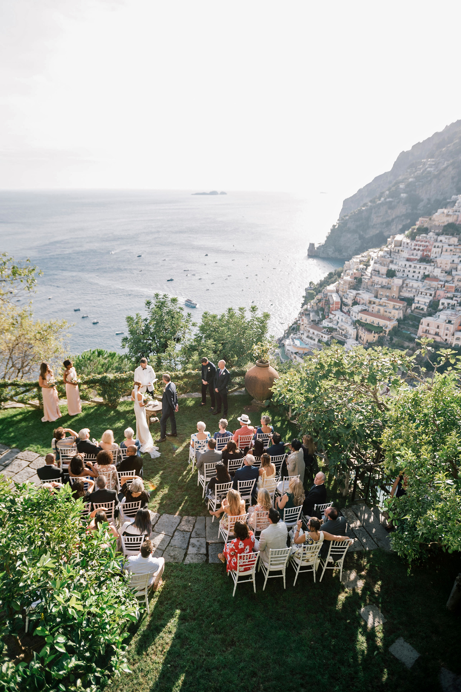 cara david wedding ceremony on cliff