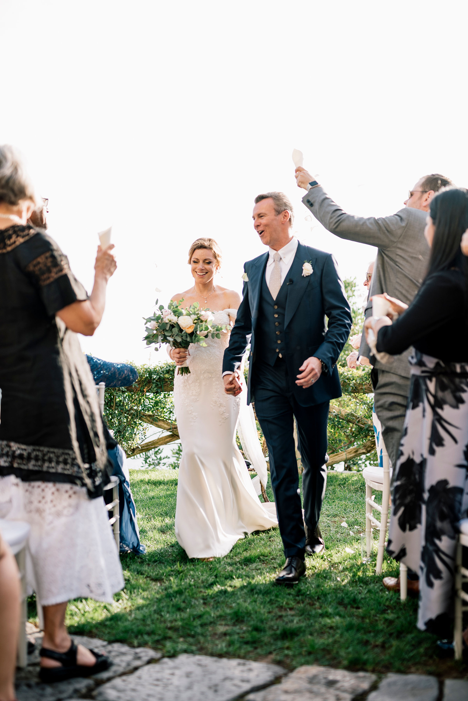 cara david wedding ceremony recessional