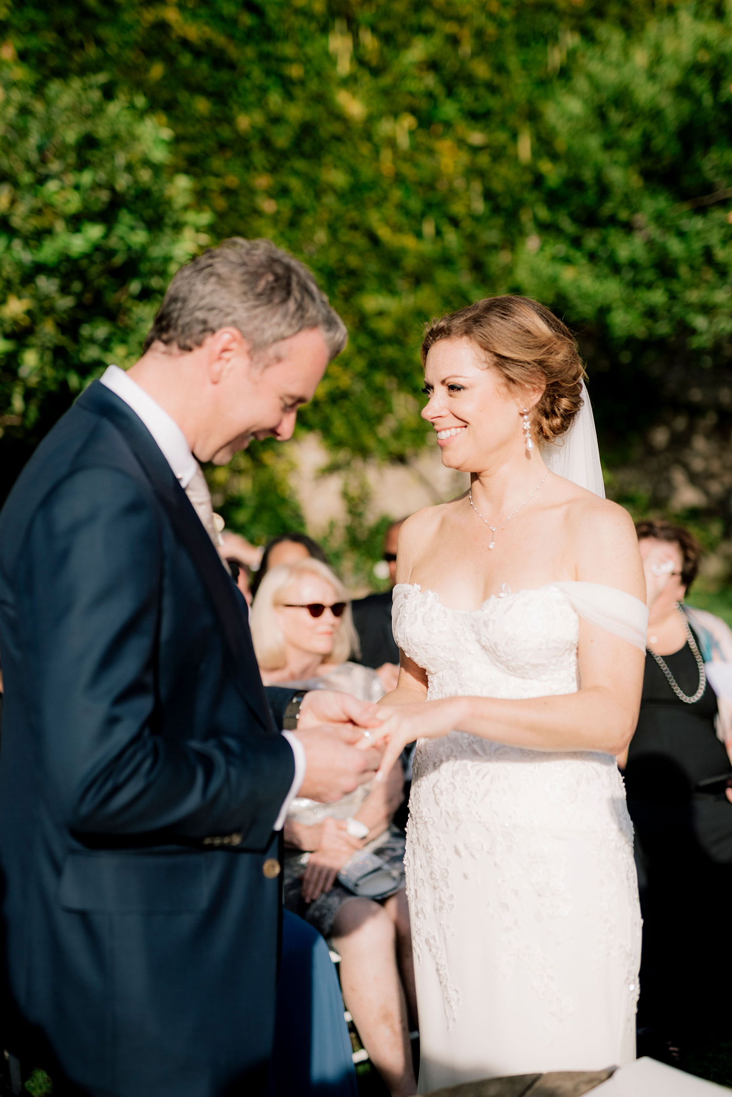 cara david wedding ceremony rings
