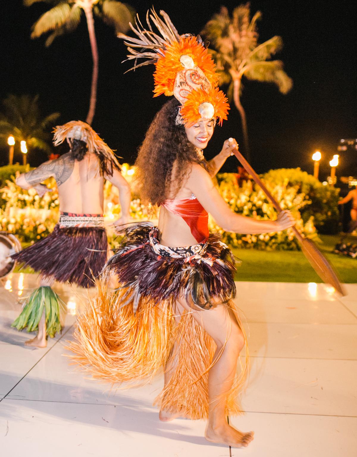 Tahitian performances wedding reception
