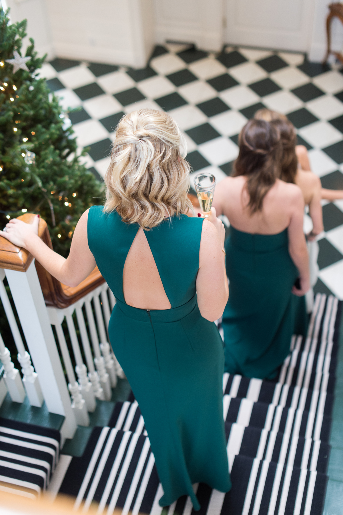winter wedding guest attire pine green bridesmaids dresses