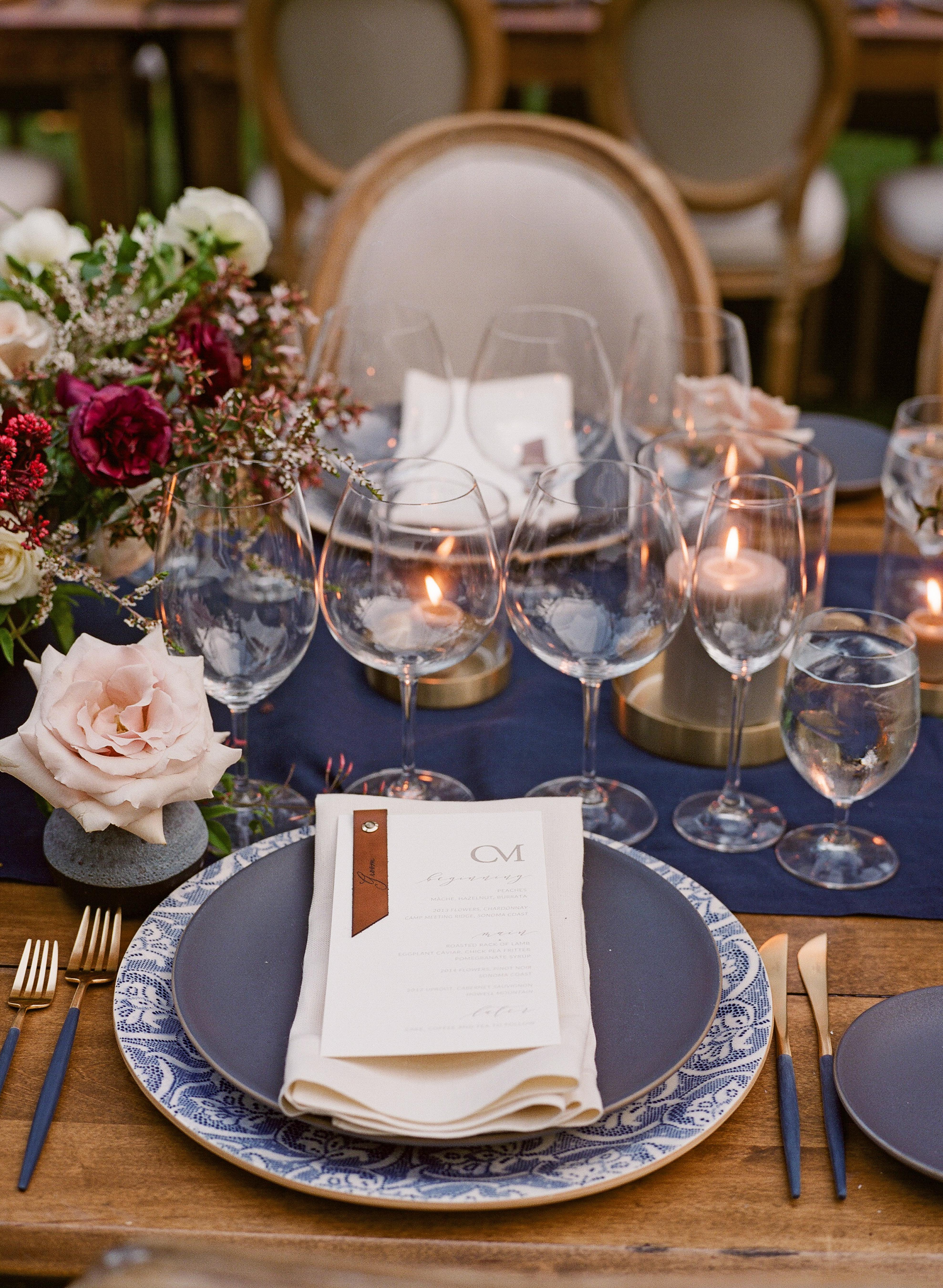 caitlin michael wedding place setting