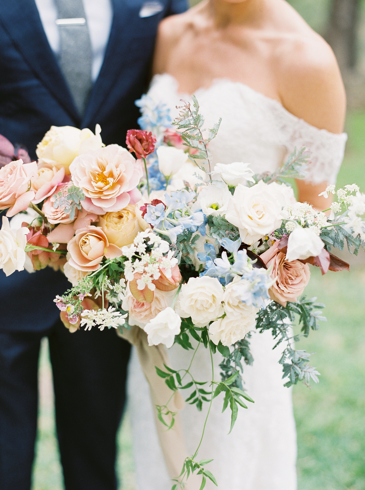 muted tones wedding floral bouquet