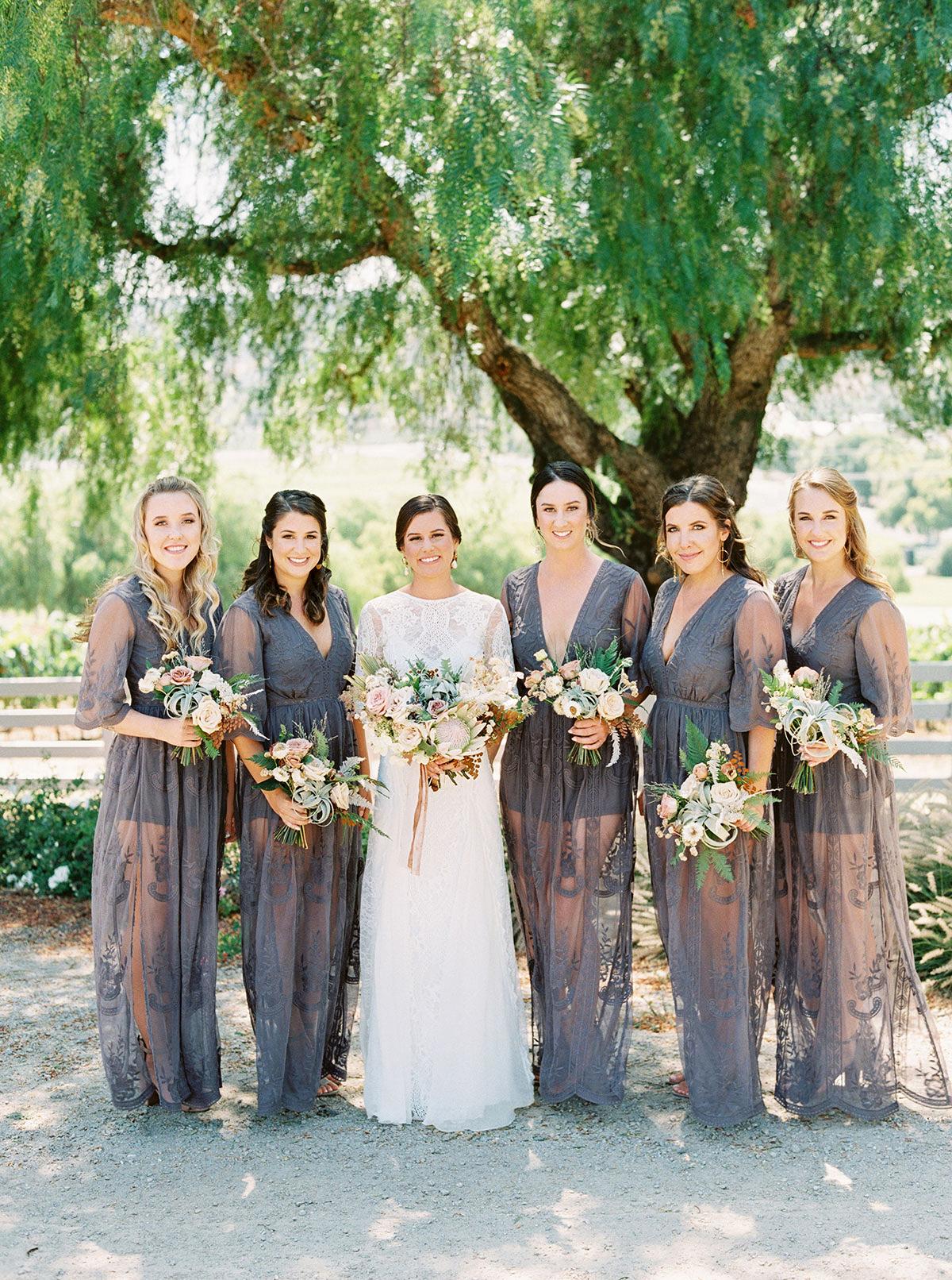 jena donny wedding bridesmaids and bride