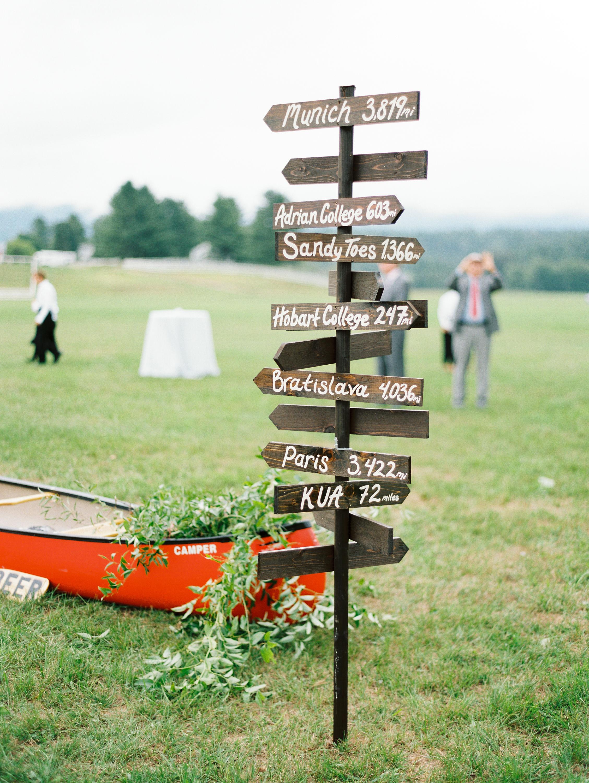 lauren josh wedding directional sign