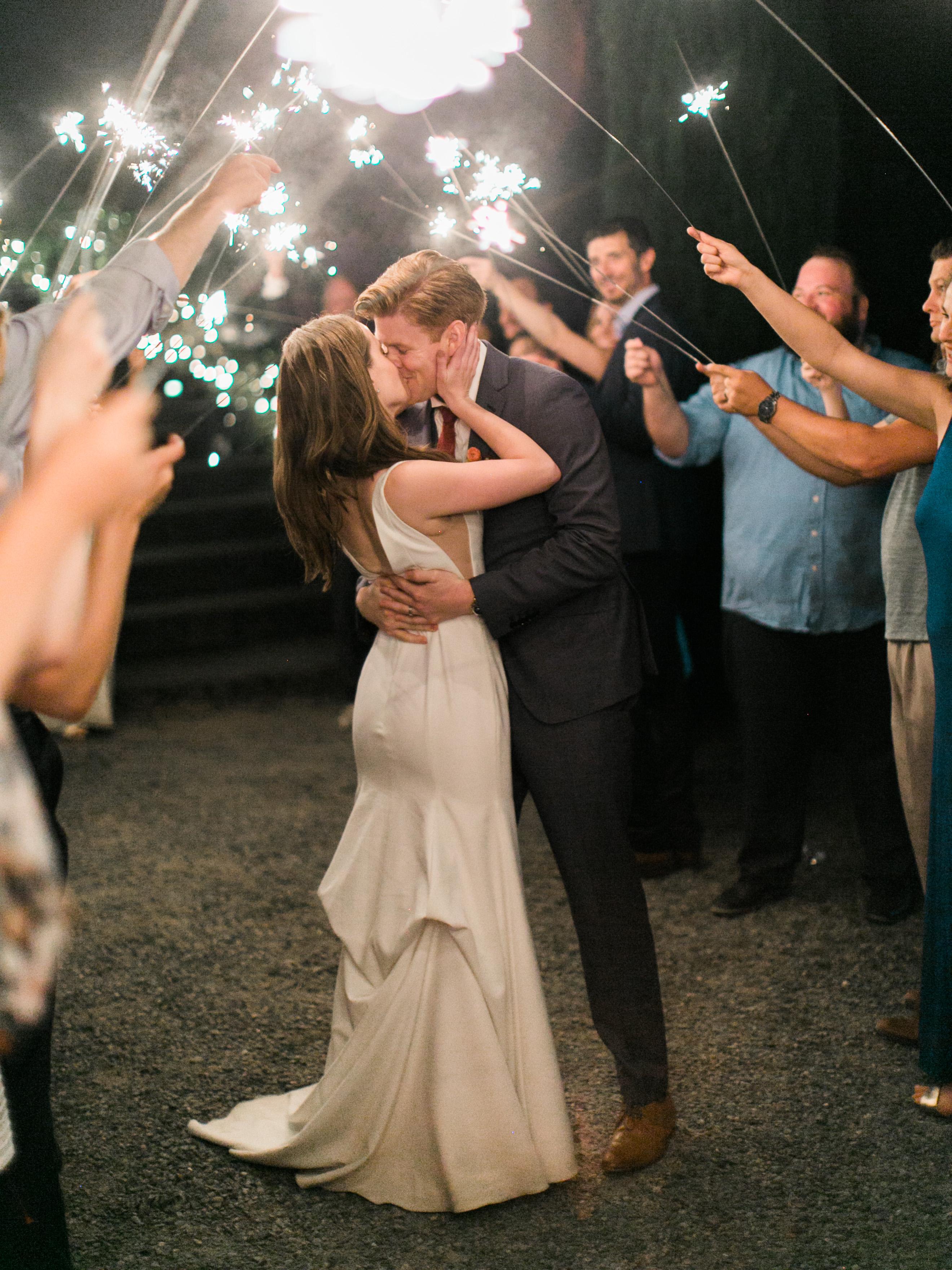 paige matt wedding sparkler exit