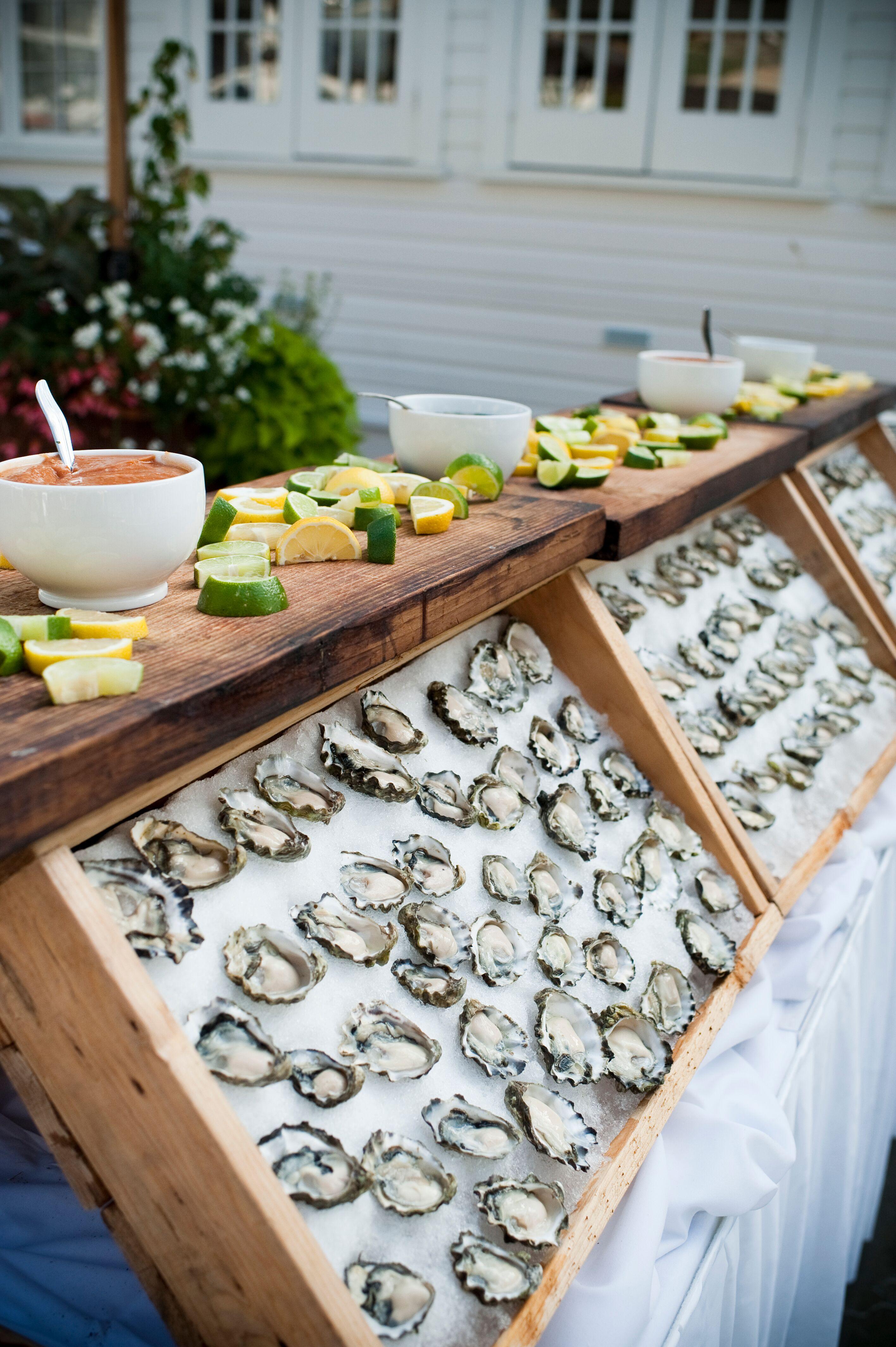 oyster bar wedding food