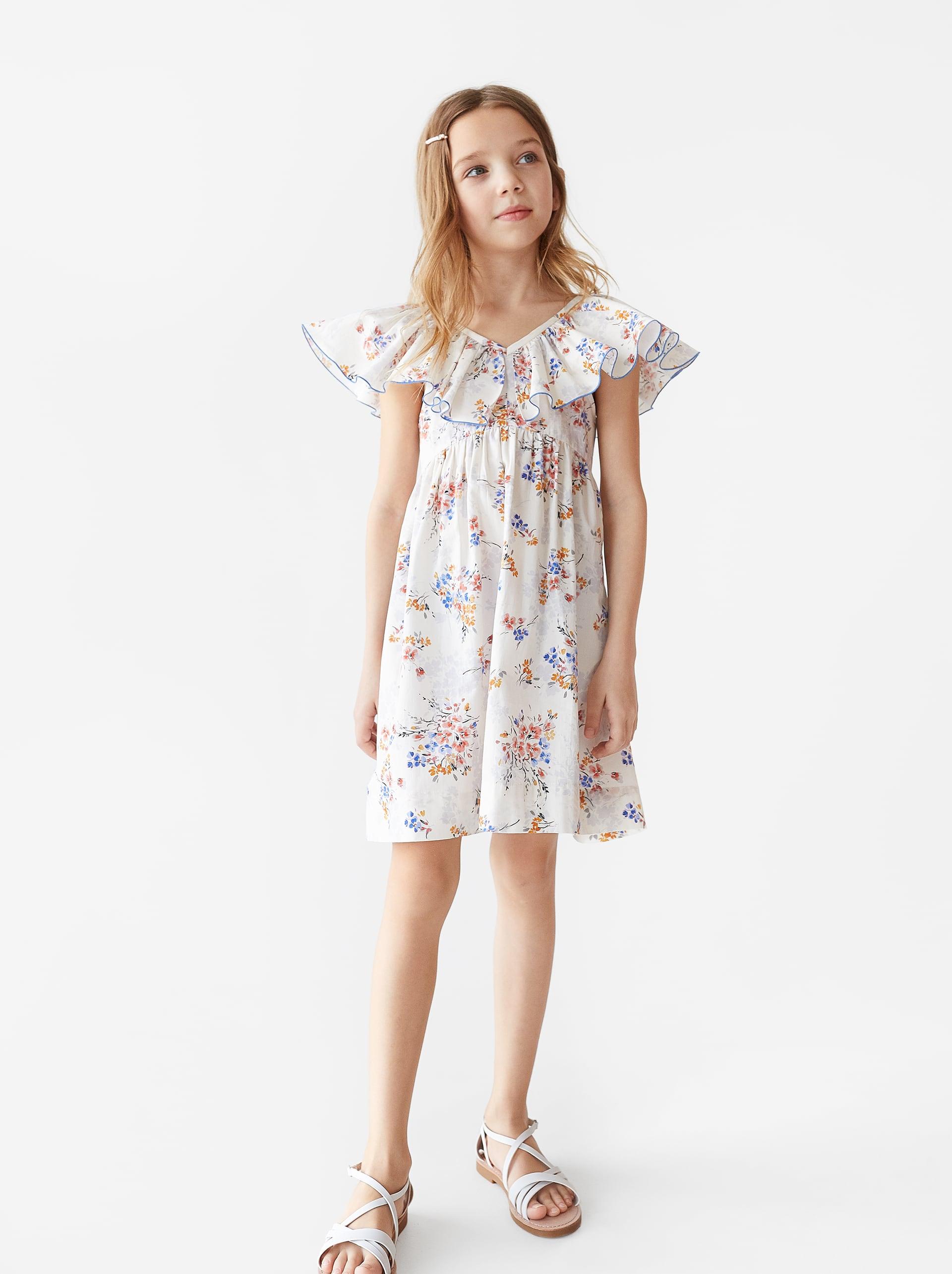 Zara Ruffled Floral Dress