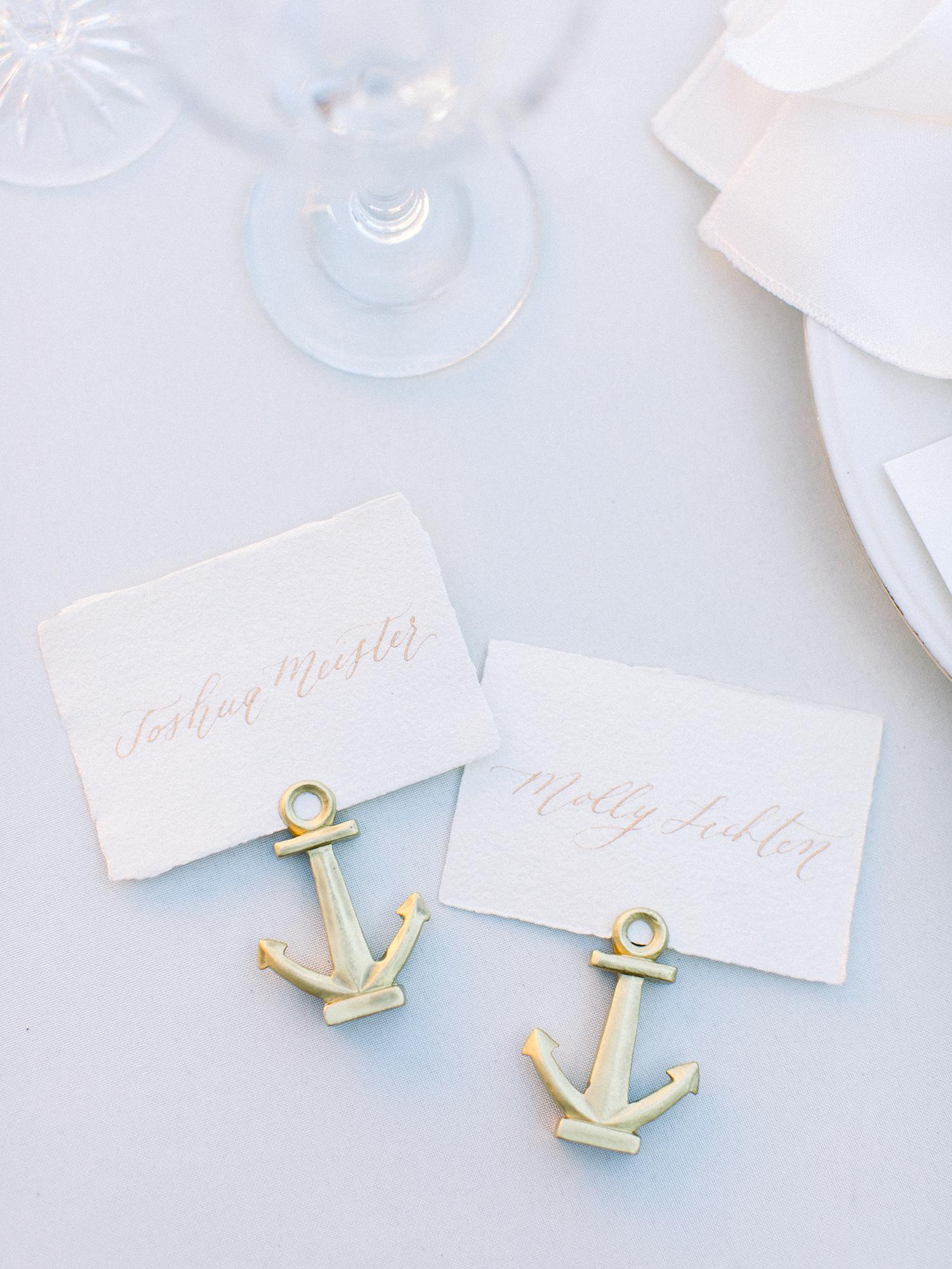molly josh wedding place cards