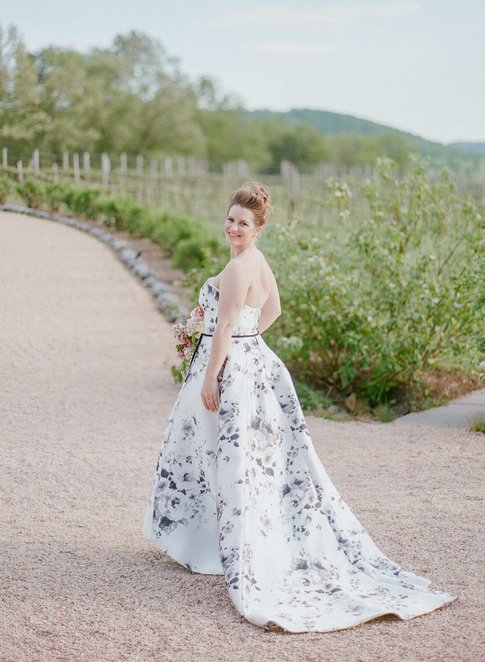 mechelle julia wedding bride floral dress