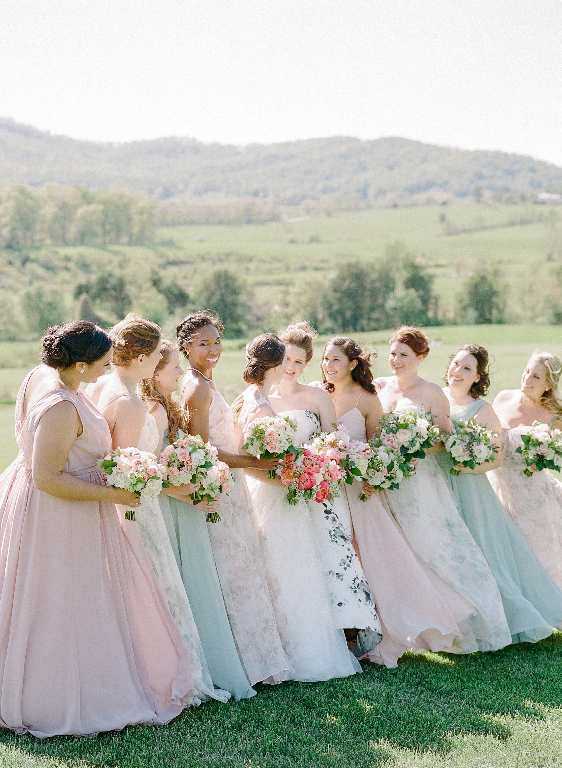 mechelle julia wedding bridesmaids and brides
