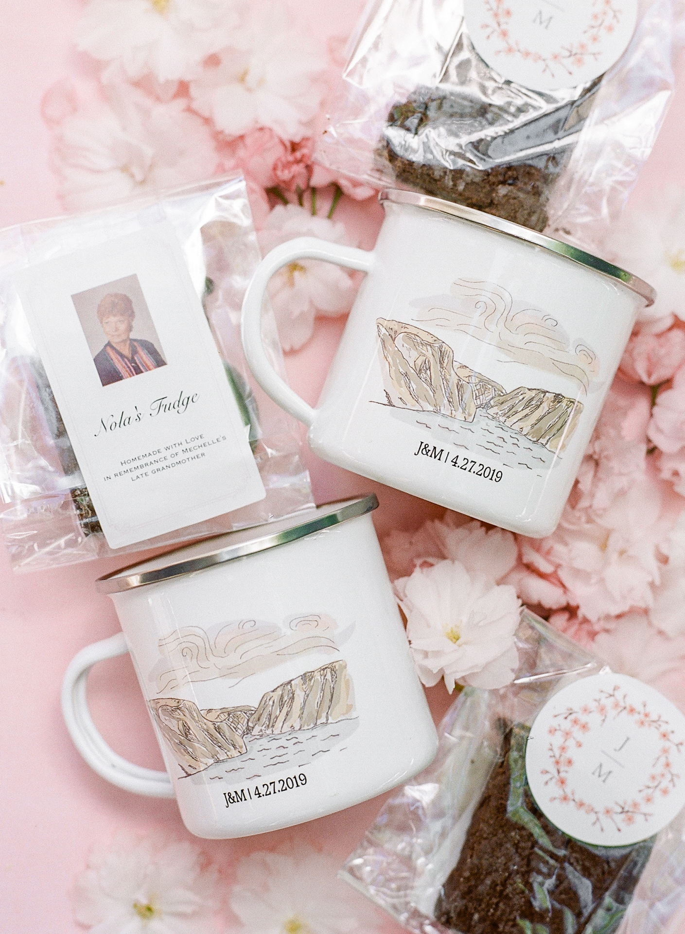 mechelle julia wedding favors mugs tea