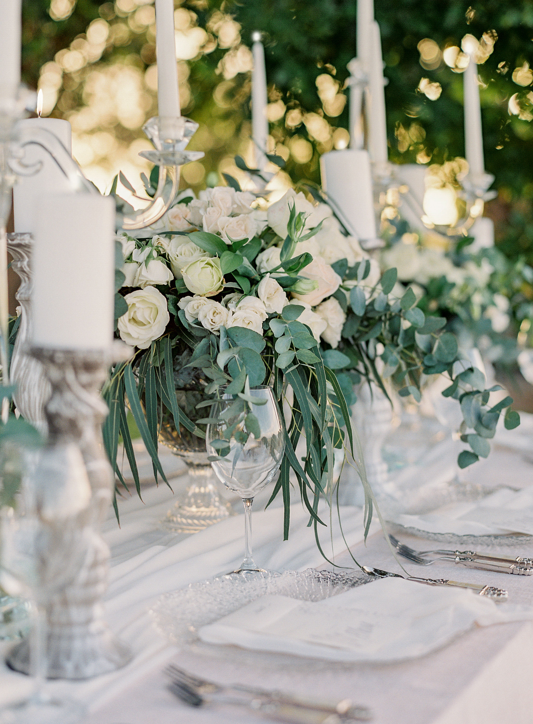 jessica ryan wedding tables with flowers and candles
