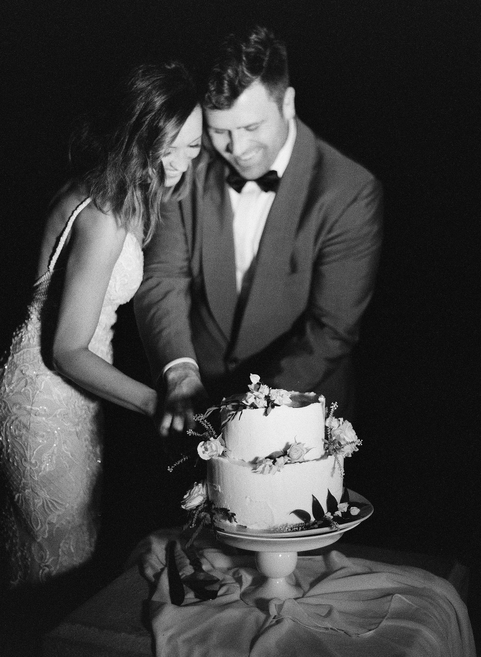 jessica ryan wedding bride and groom cutting cake