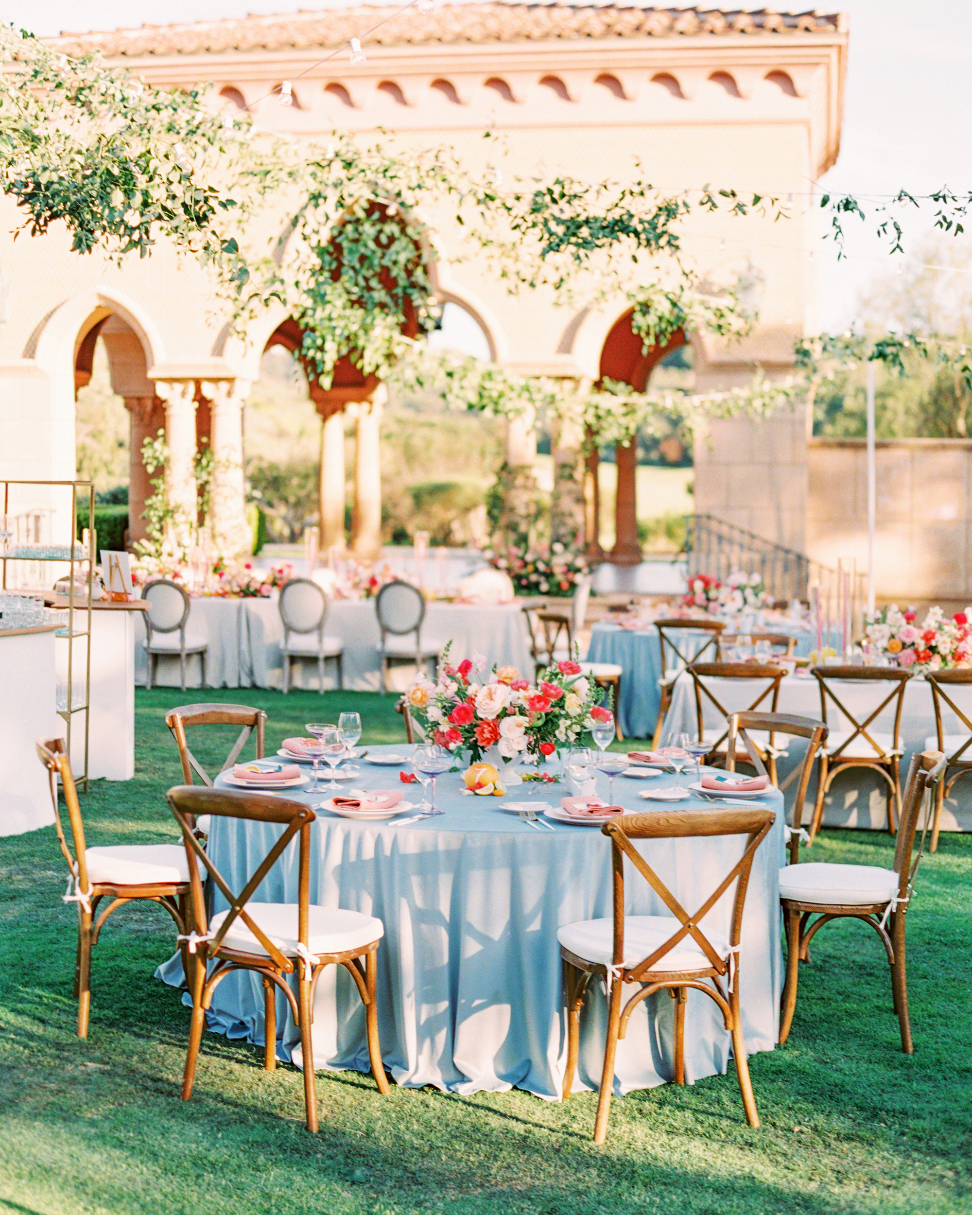cavin david wedding round reception tables