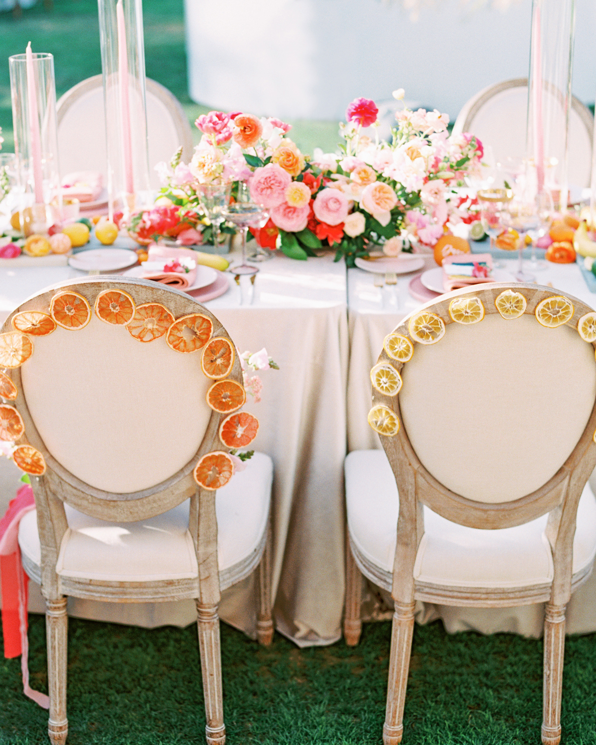 cavin david wedding citrus chair backs
