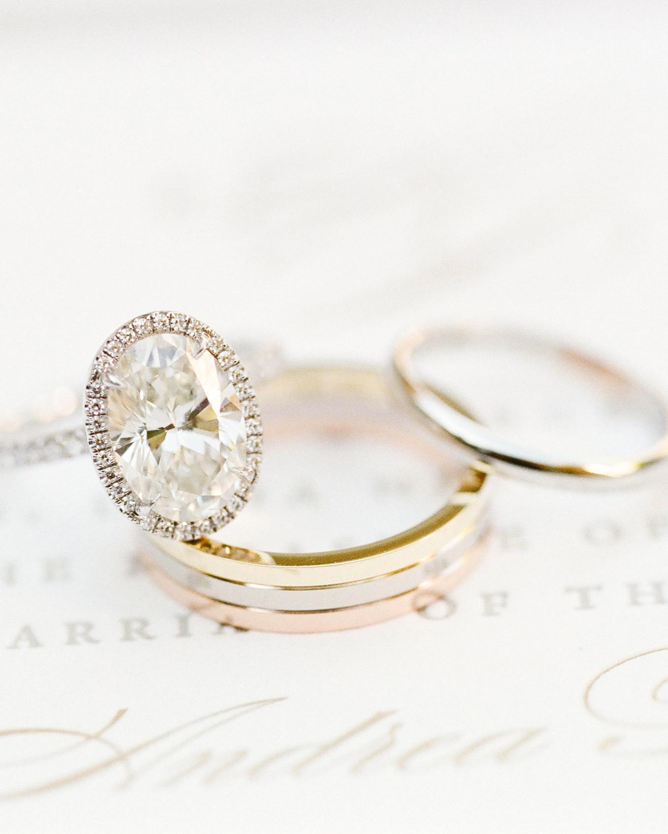 tri color gold wedding bands