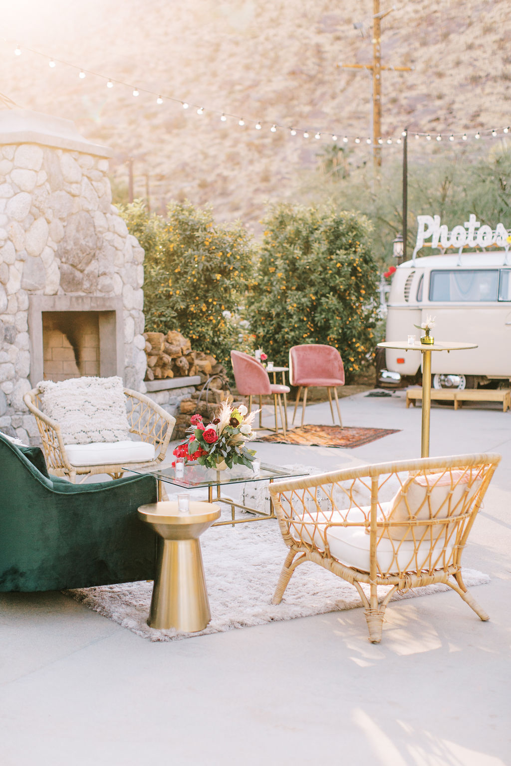 meagan robert wedding lounge area