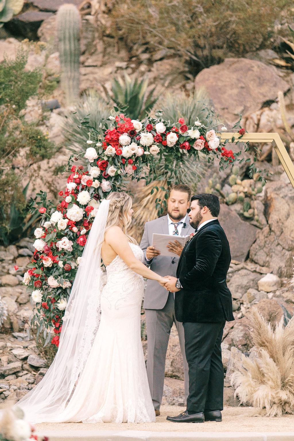 meagan robert wedding ceremony vows bride and groom