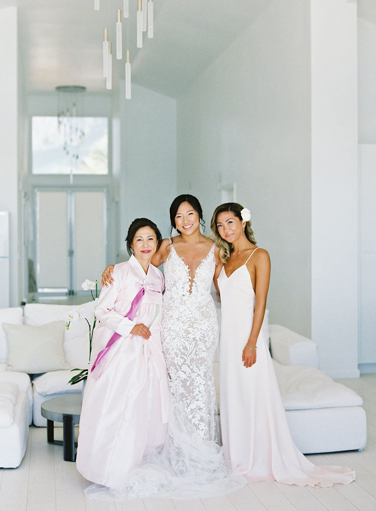 azuki sam wedding bride with family