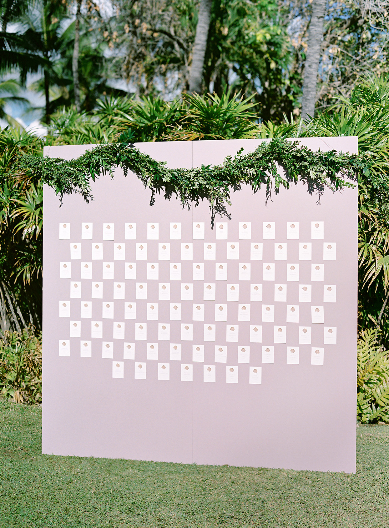 azuki sam wedding wall of escort cards