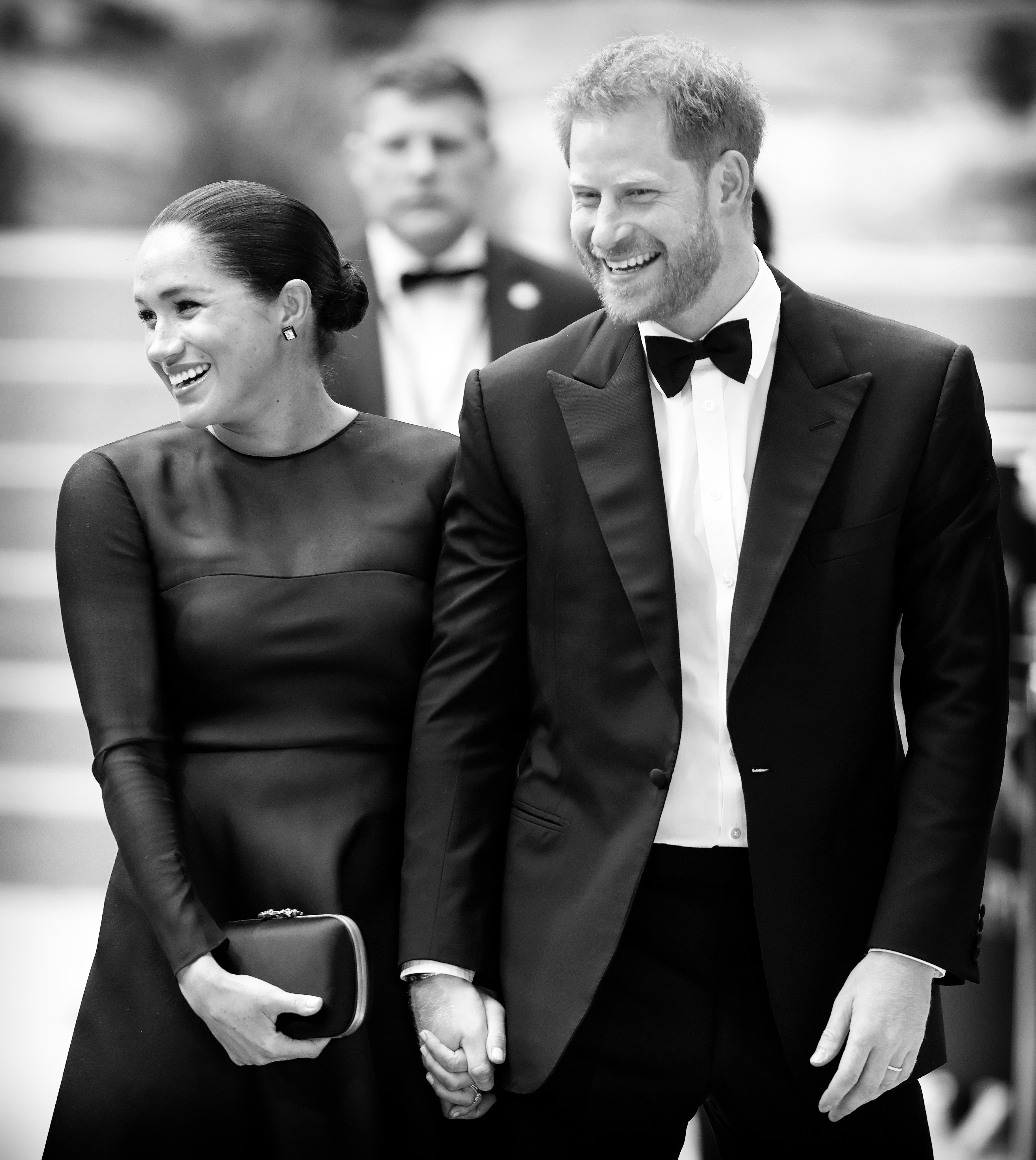 Prince Harry and Meghan Markle at Lion King Premier
