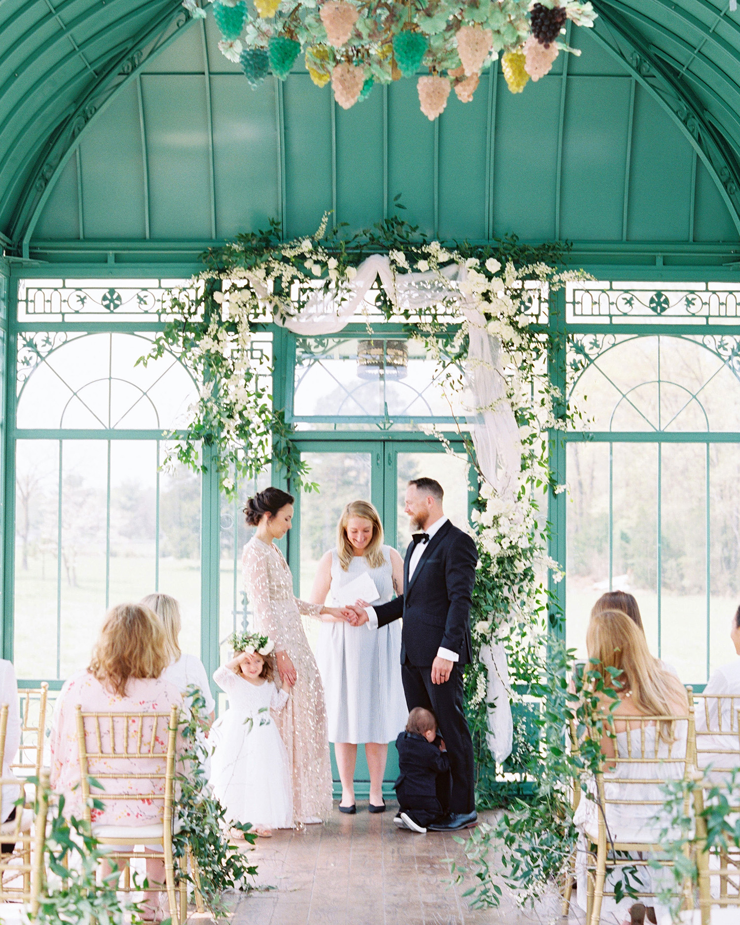 evan dustin vow renewal ceremony bride groom