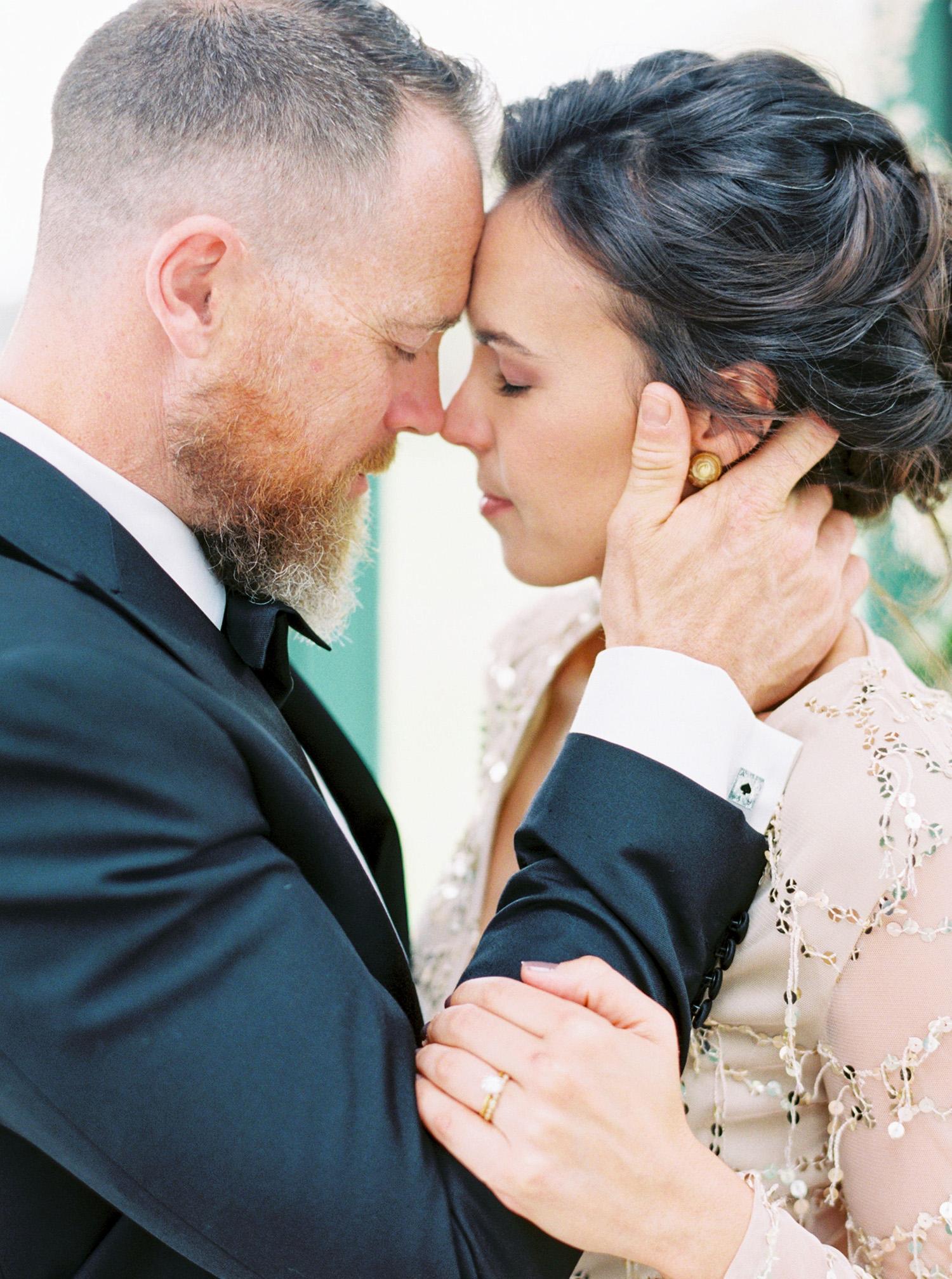 evan dustin vow renewal bride groom couple