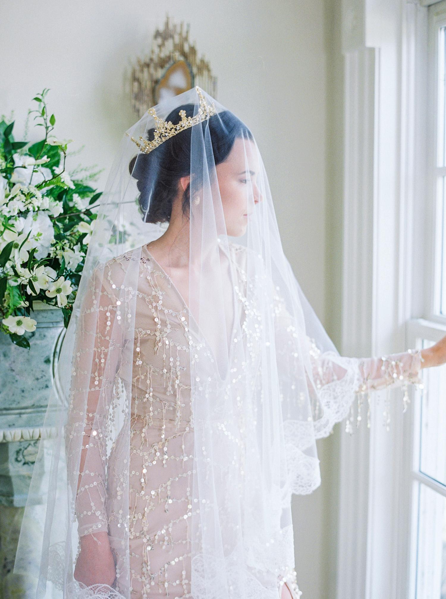 evan dustin vow renewal bride with veil and crown