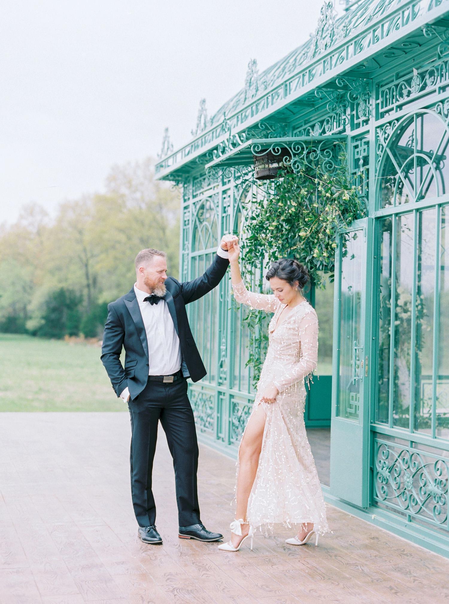evan dustin vow renewal couple dancing