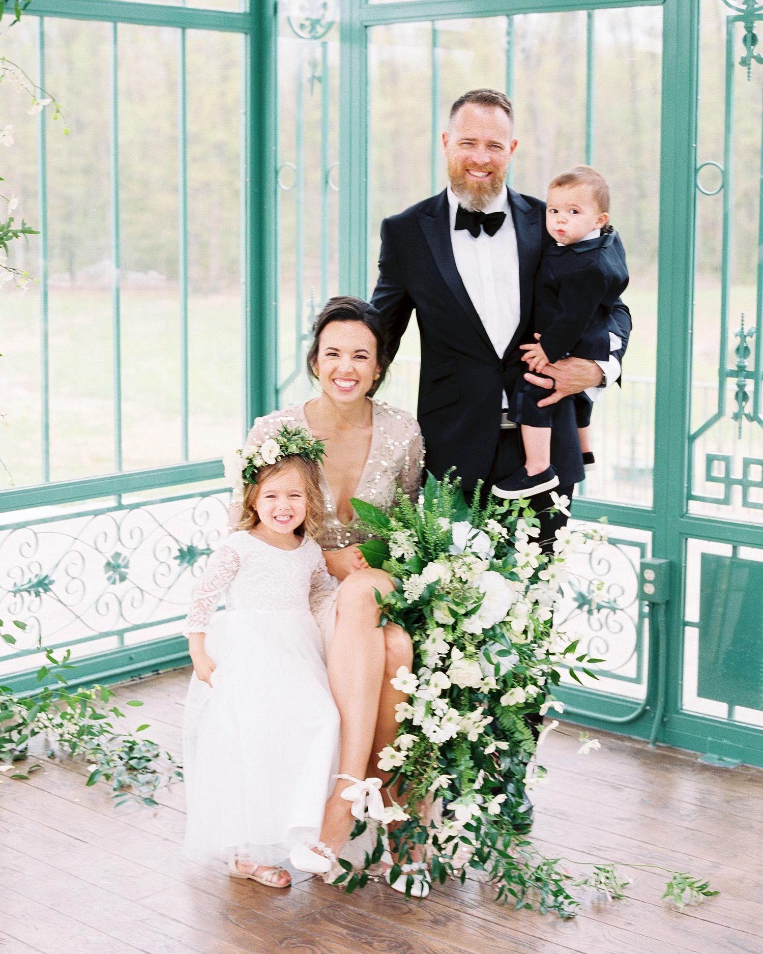 evan dustin vow renewal family bride groom kids