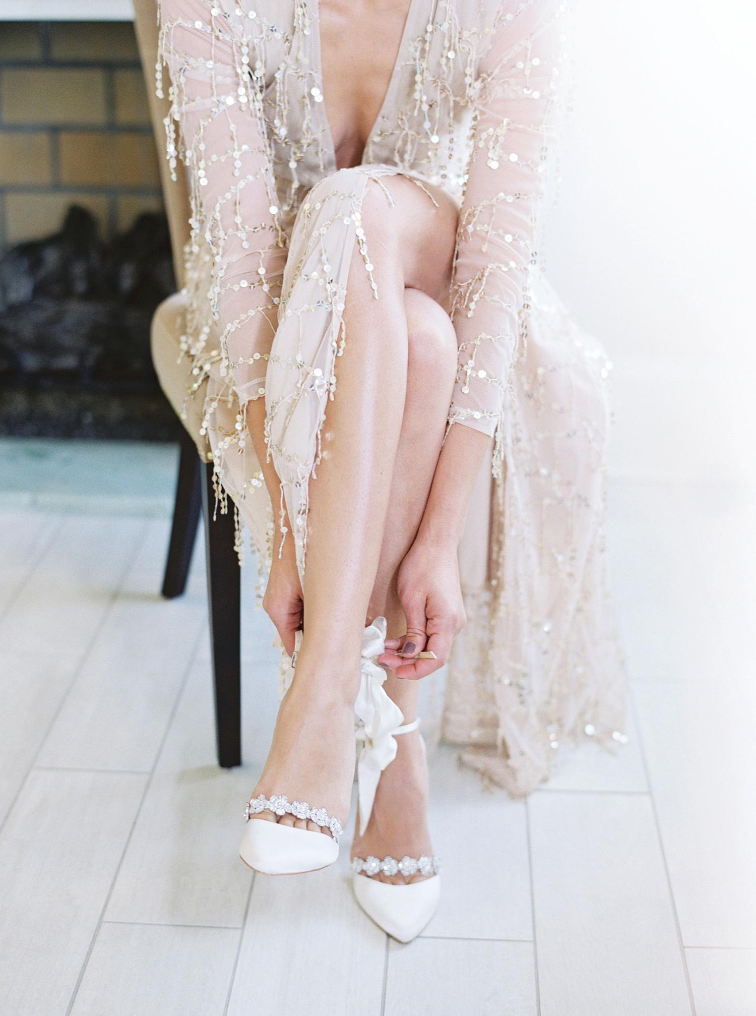 evan dustin vow renewal bride shoes