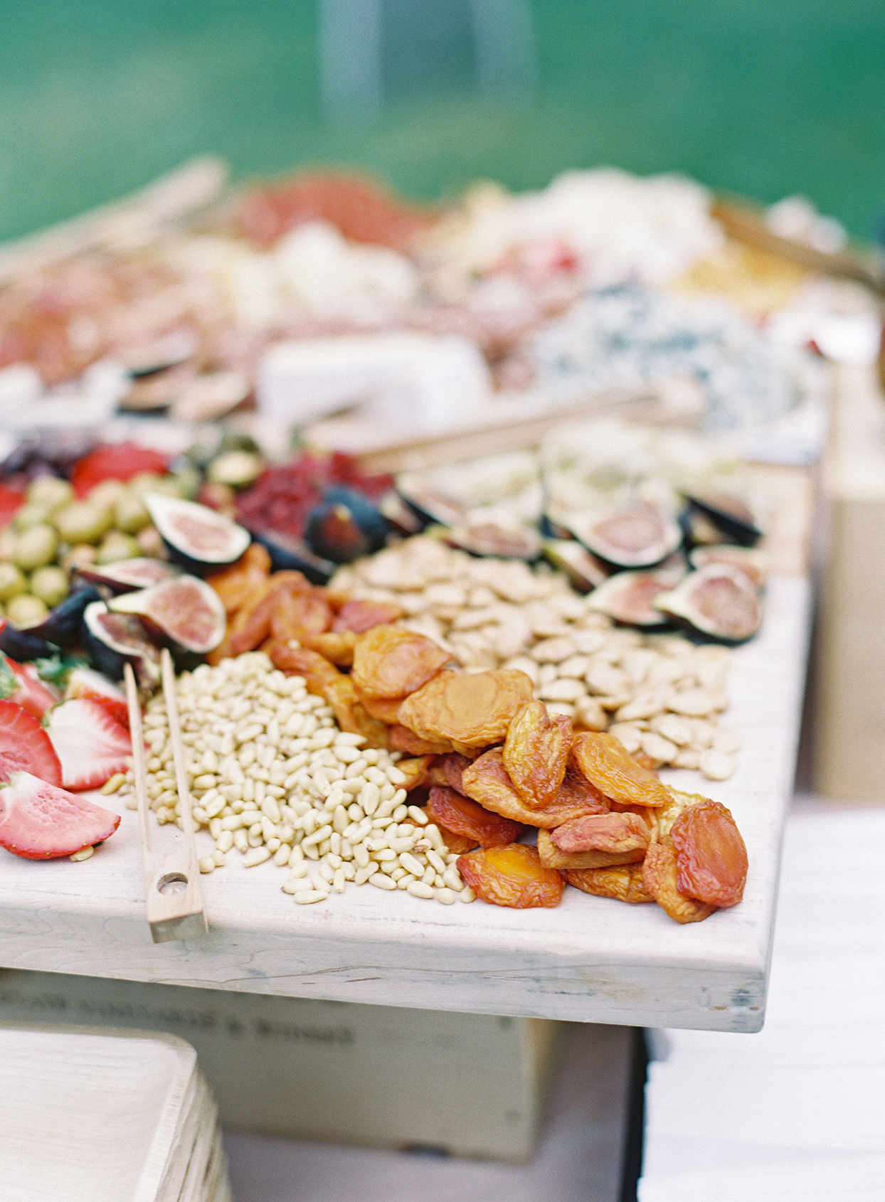 wedding grazing table with dried fruit