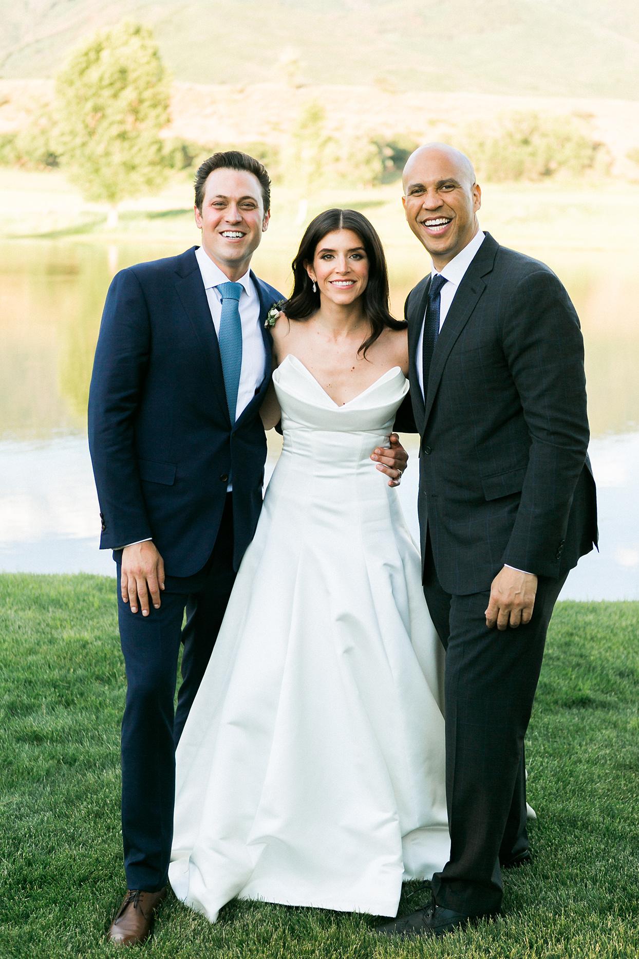 jessica aaron wedding couple with cory booker
