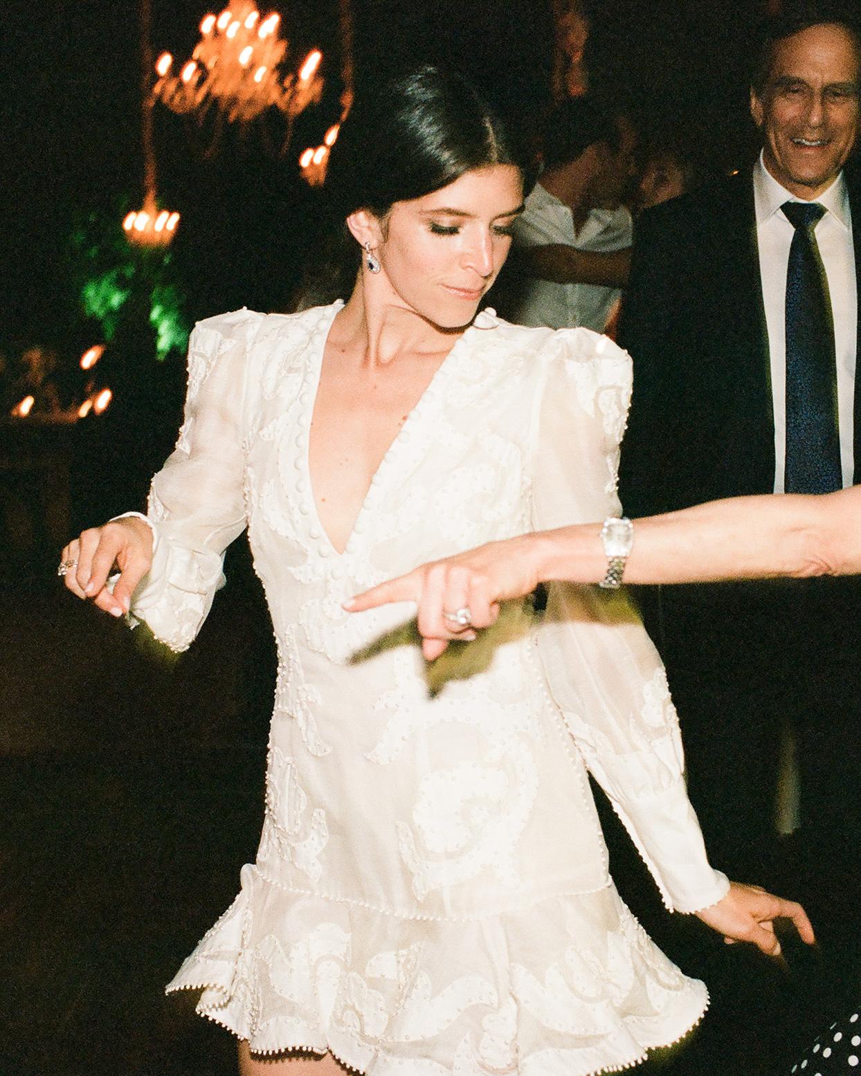 jessica aaron wedding reception bride dancing