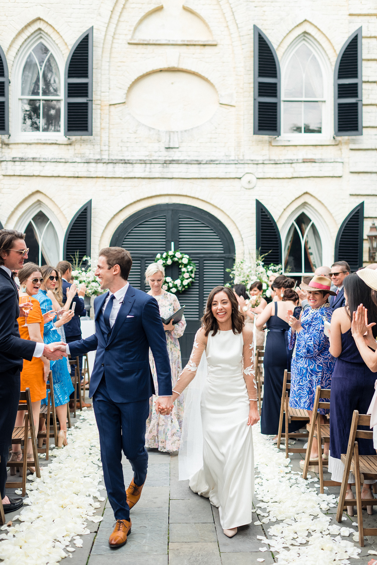 paula terence wedding ceremony bride and groom's recessional