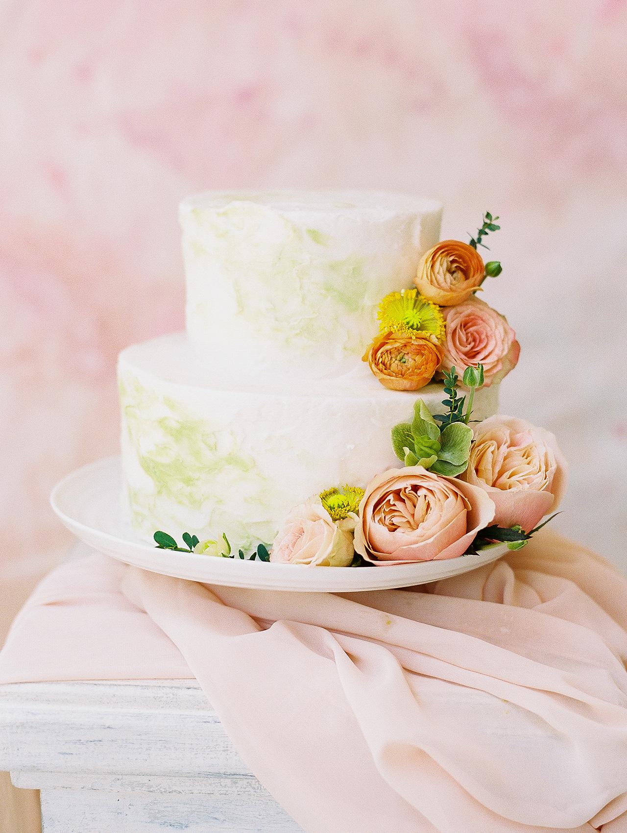 summer bridal shower idea vibrant floral cake