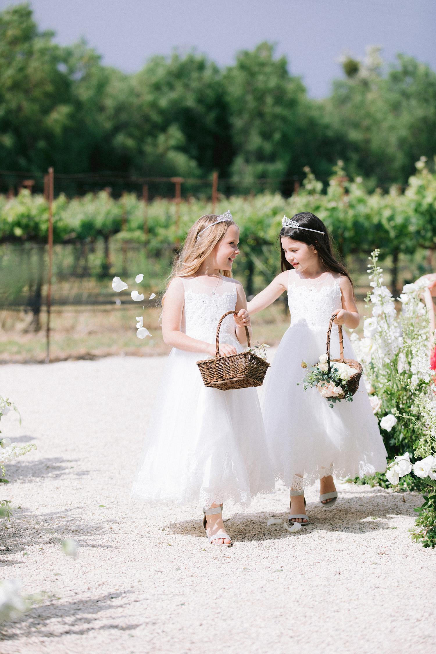 kati erik wedding flower girls