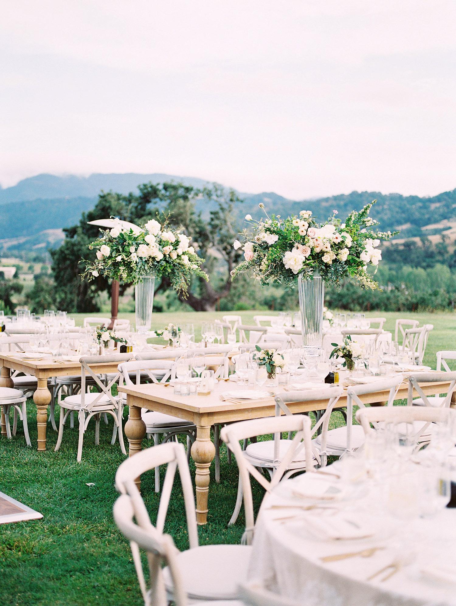 kati erik wedding reception tables