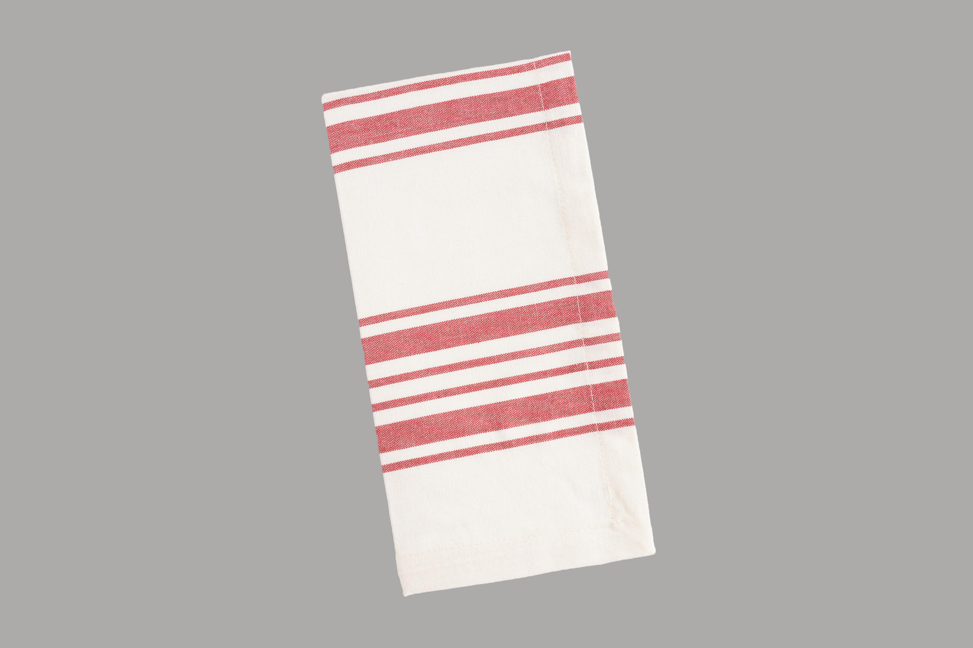 World Market Red Villa Striped Napkins