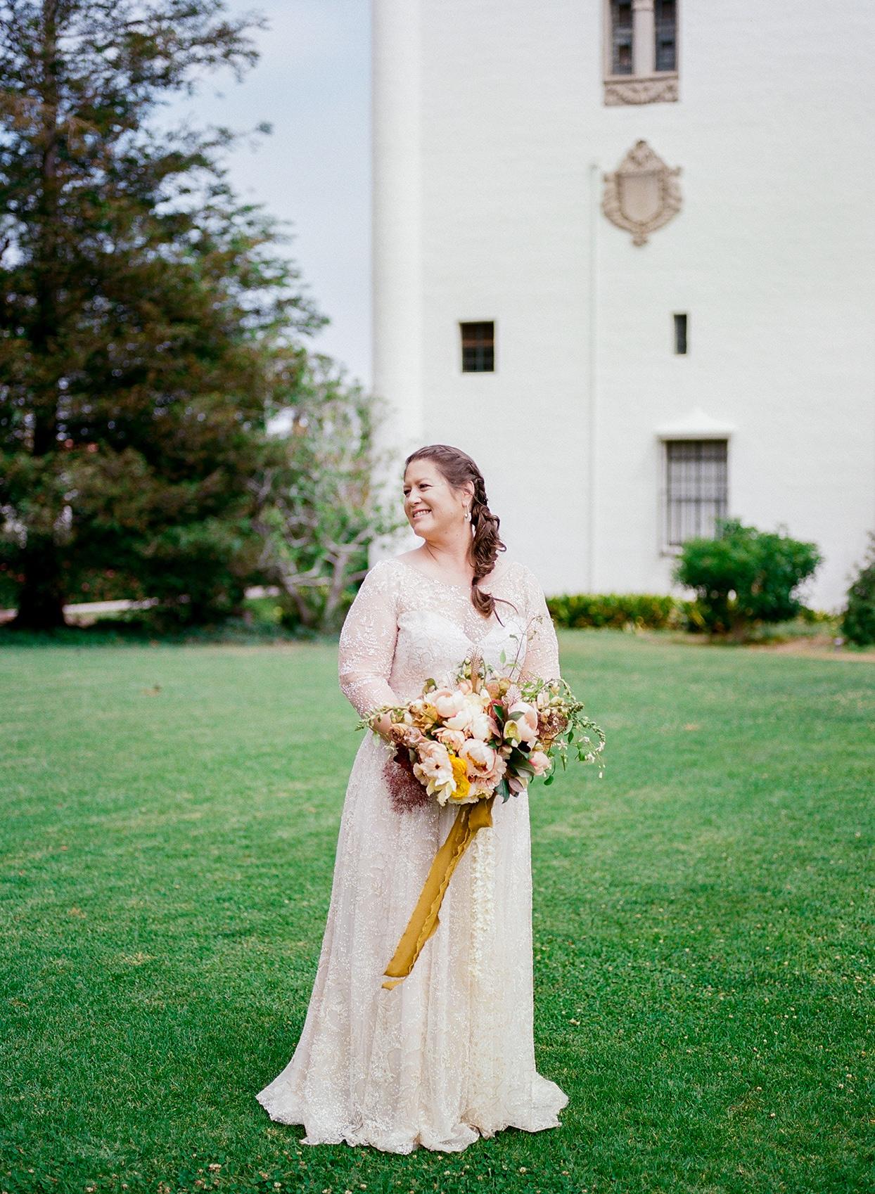 nina devon wedding bride on lawn