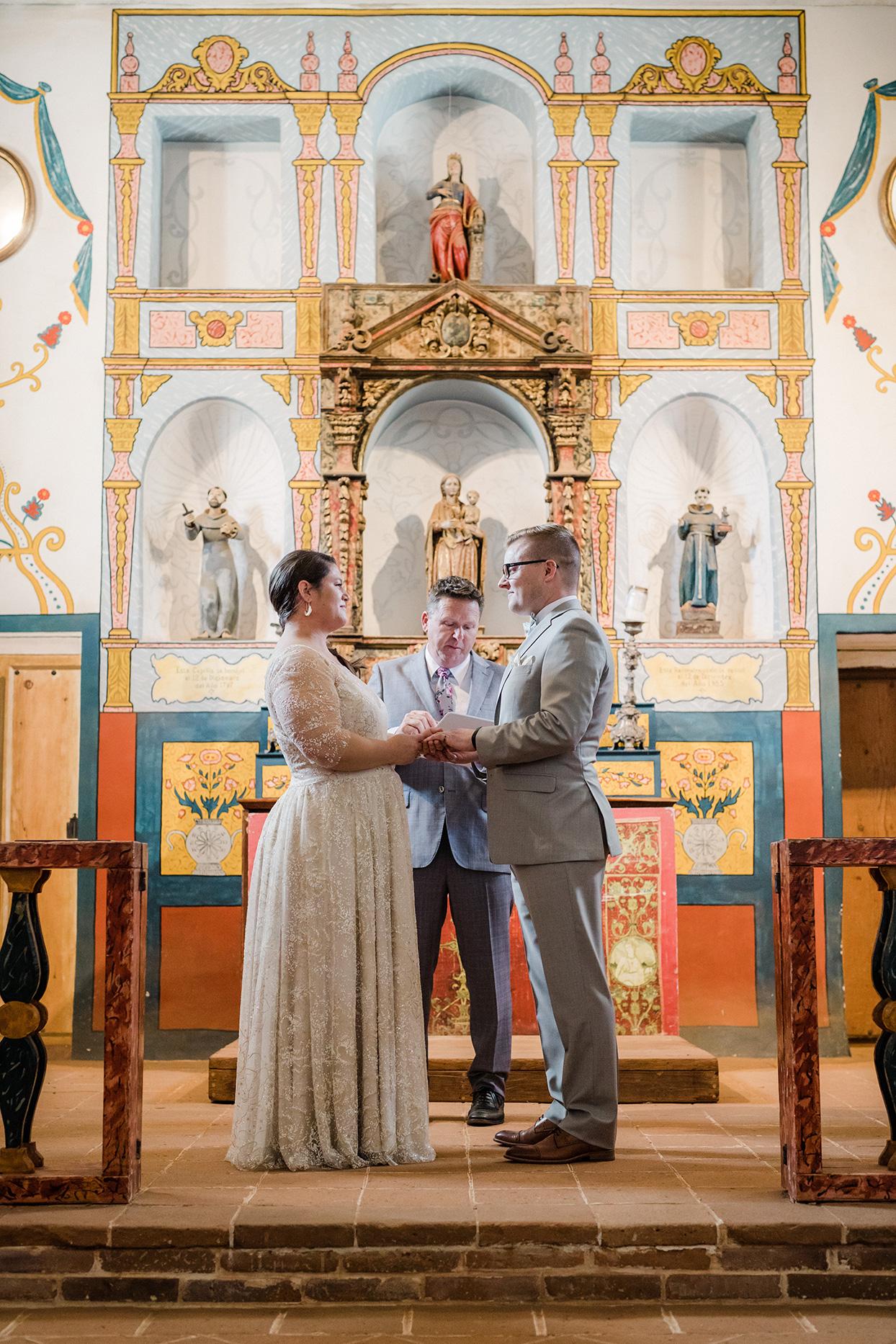 nina devon wedding ceremony in chapel