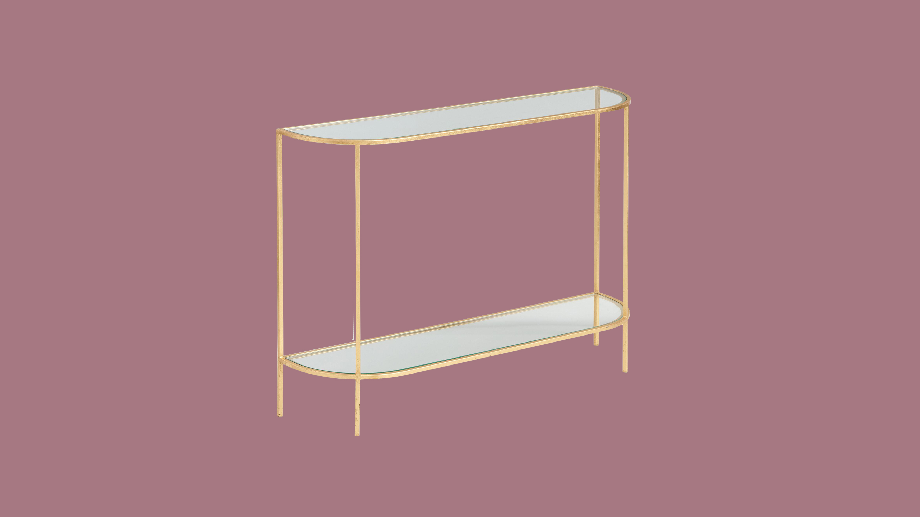 "World Market Glass and Gold Leaf ""Rosalyn"" Console Table"