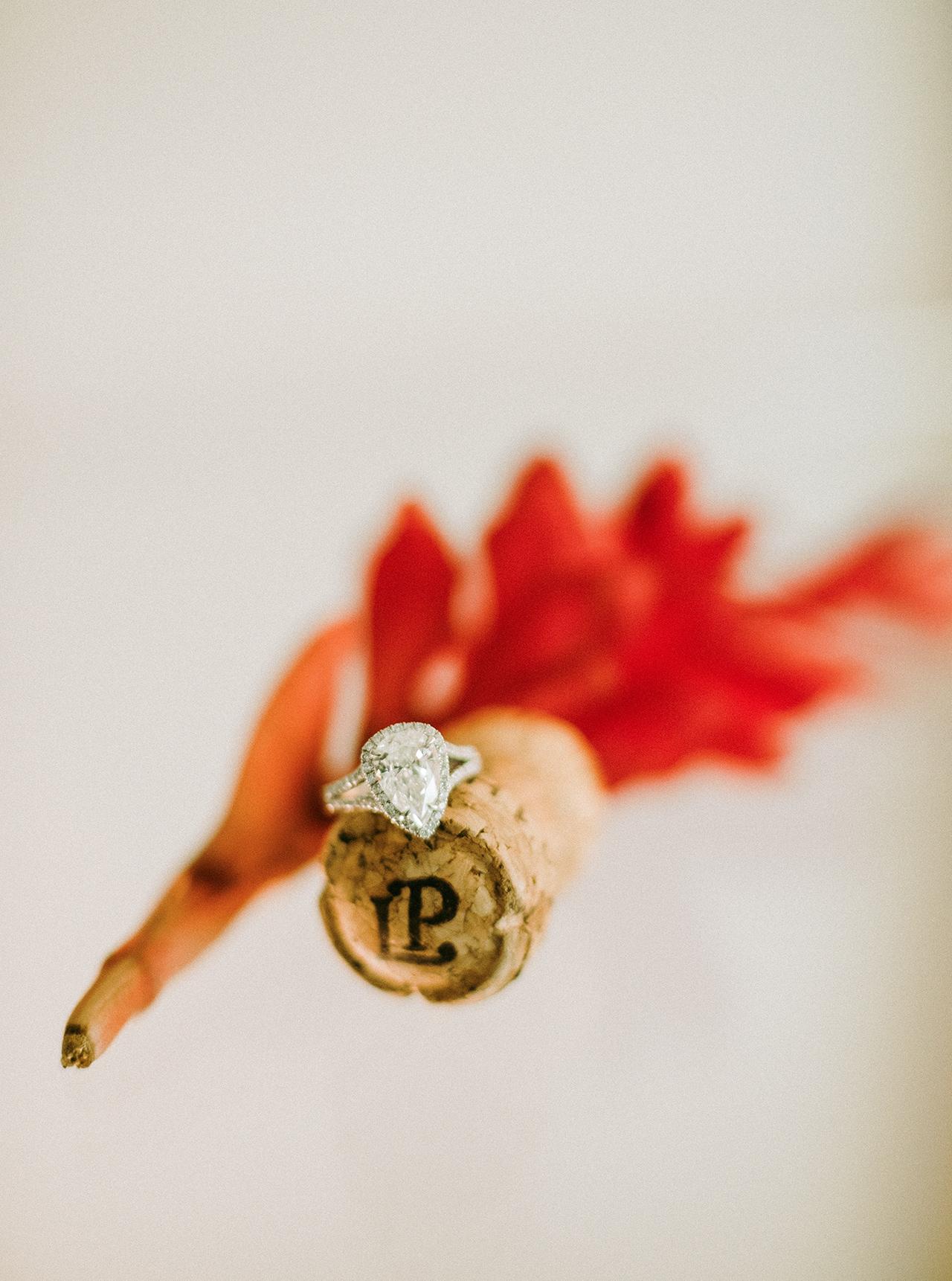 wedding engagement ring custom on cork