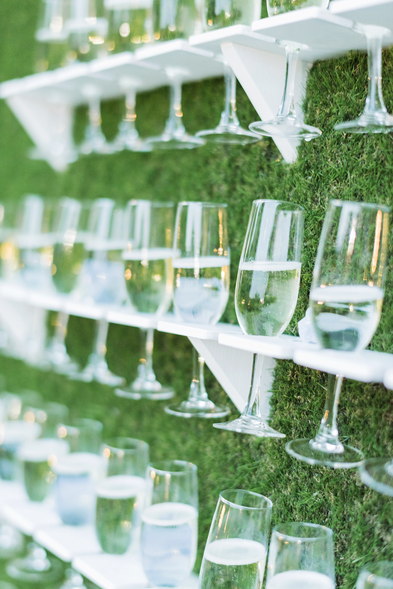 onome efe wedding champagne wall