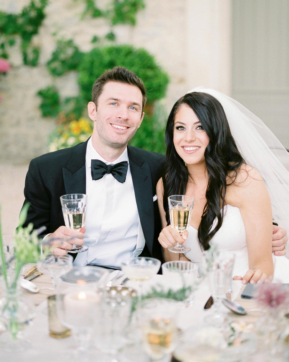 samantha grayson wedding couple toast