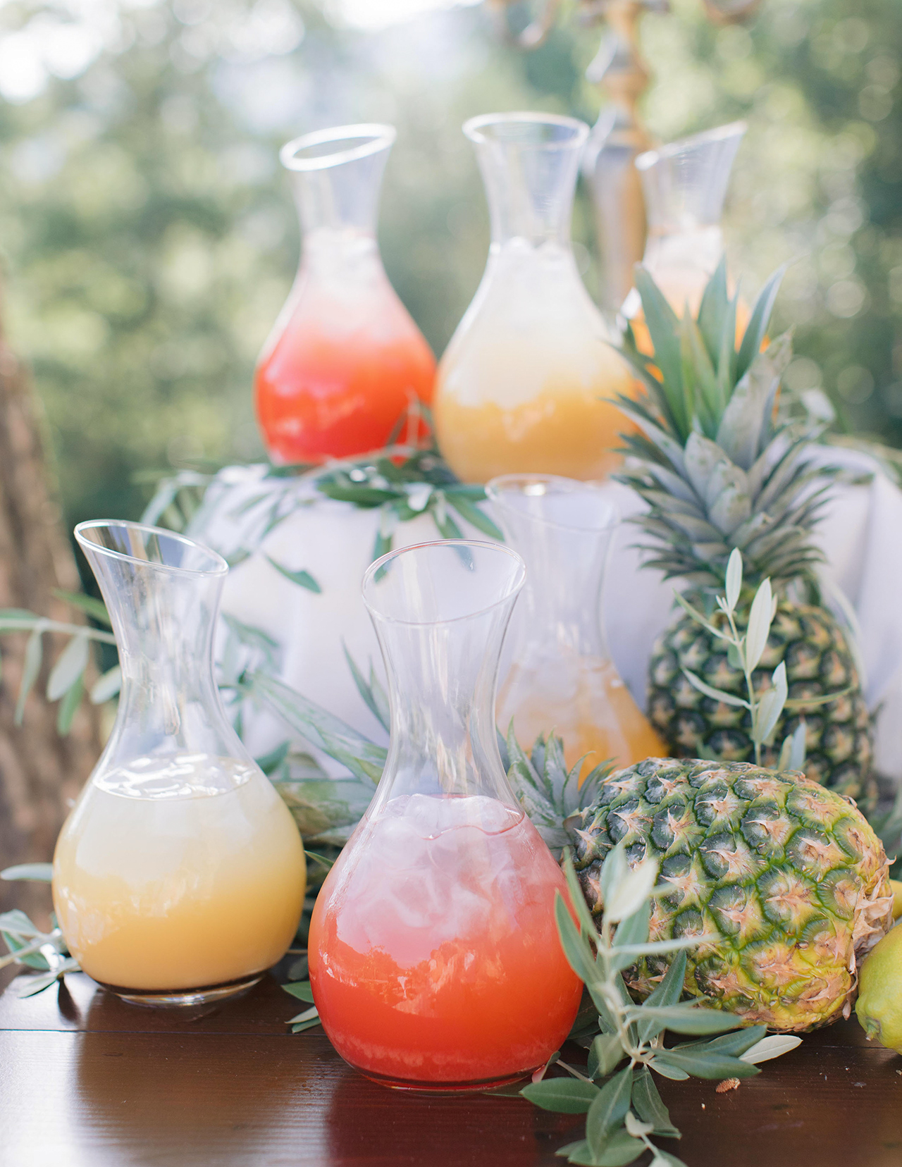 tropical cocktail drinks pineapple stand