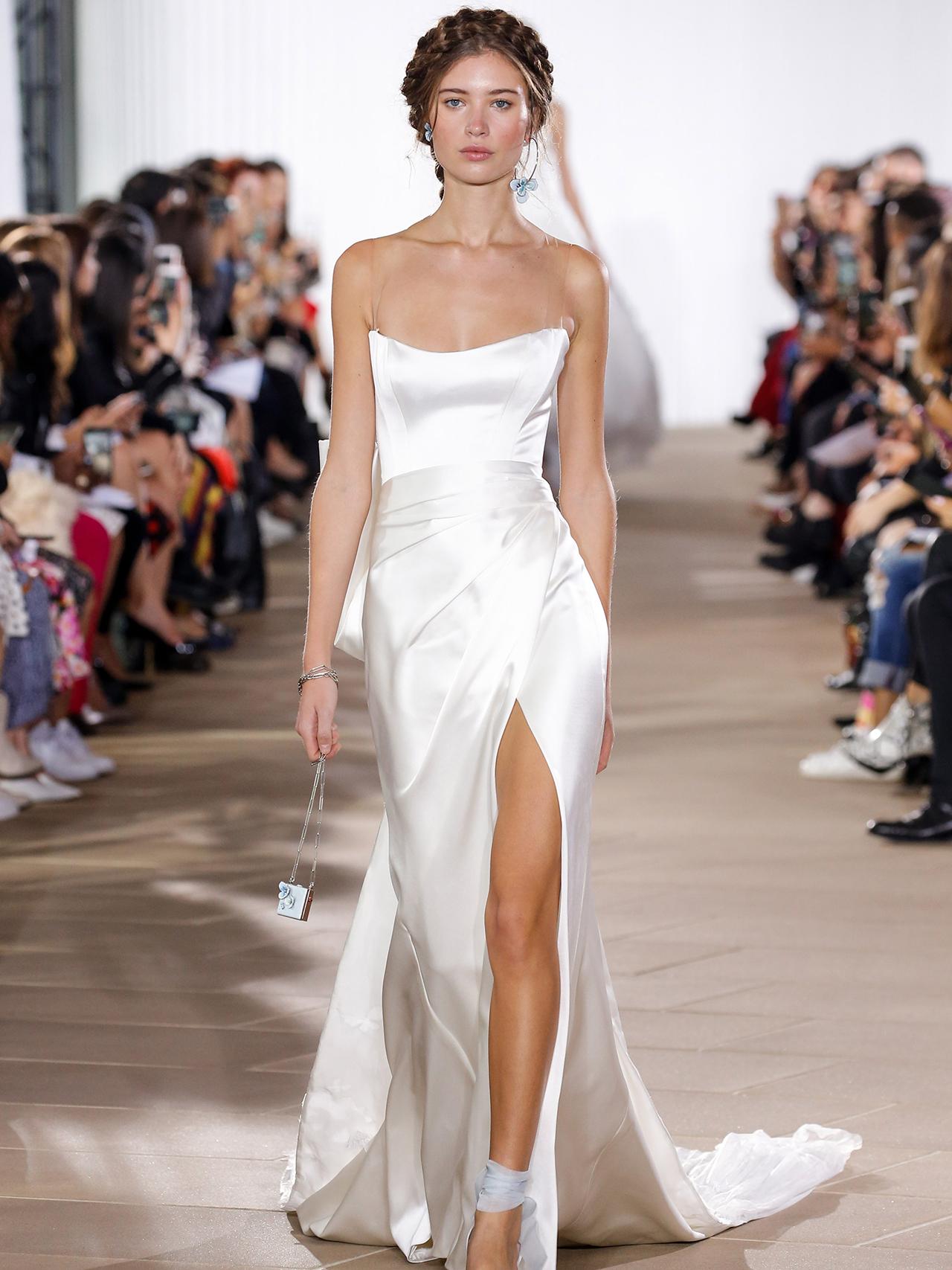 Ines Di Santo high slit sheath wedding dress fall 2020