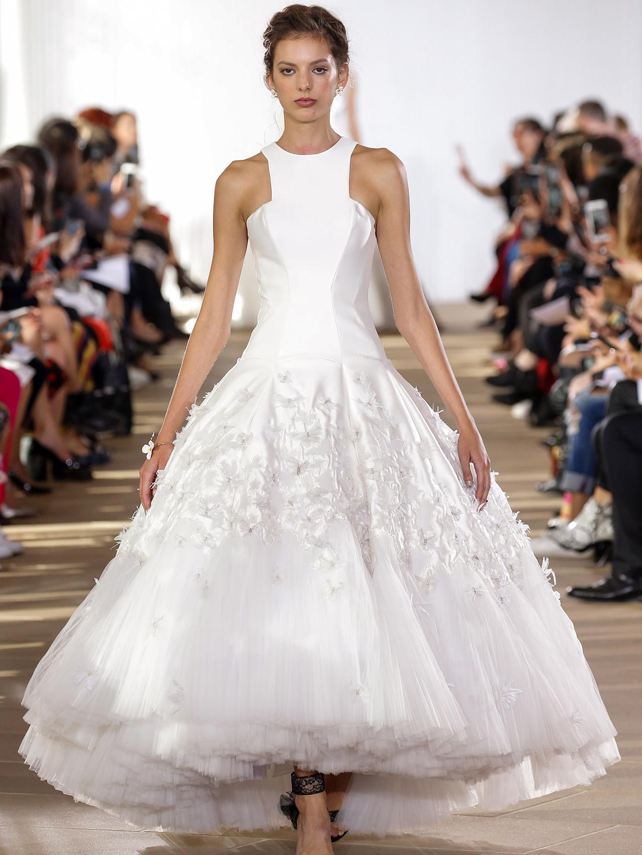Ines Di Santo halter high-low dress wedding dress fall 2020