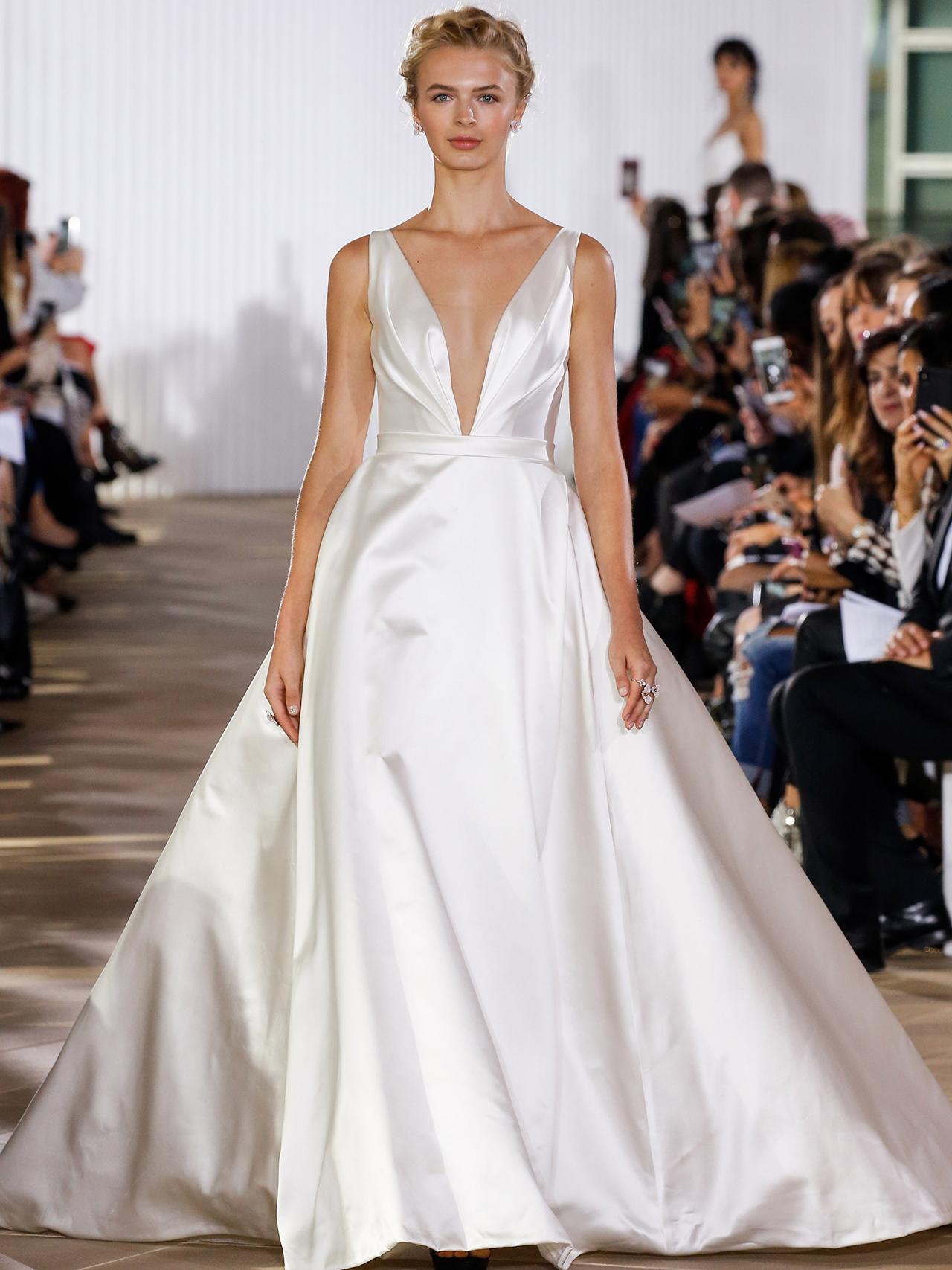 Ines Di Santo v-neck a-line wedding dress fall 2020